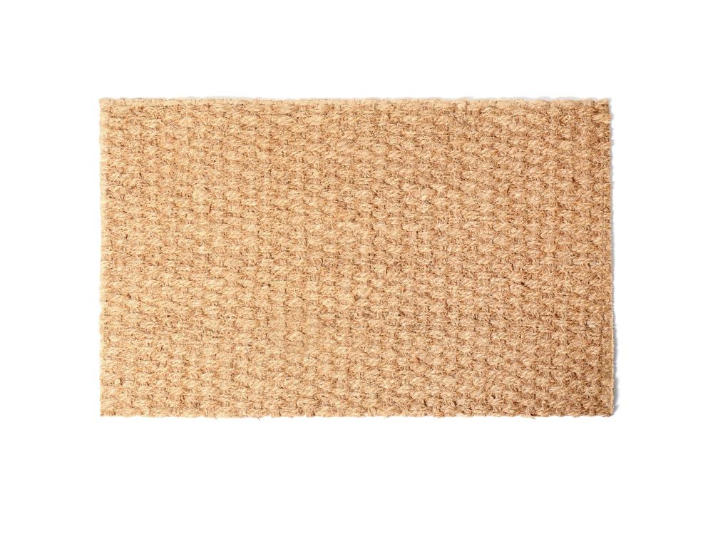tapis  fabrique de fibres de coco naturelles