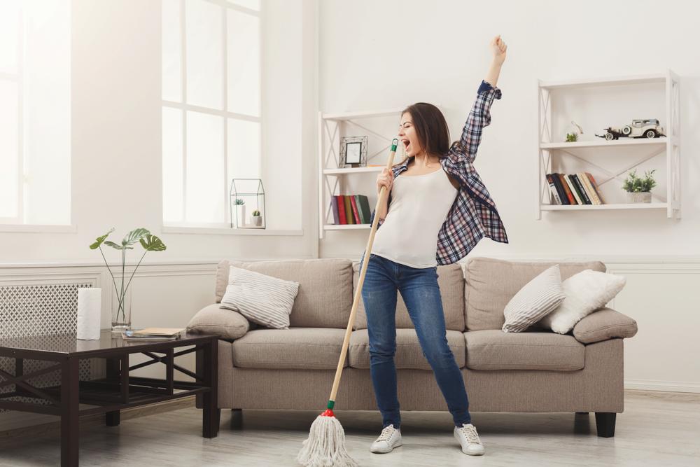 la bonne humeur pour faire le ménage et avoir une maison propre